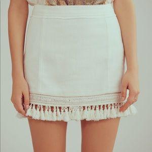 free people hot trot tassel mini skirt